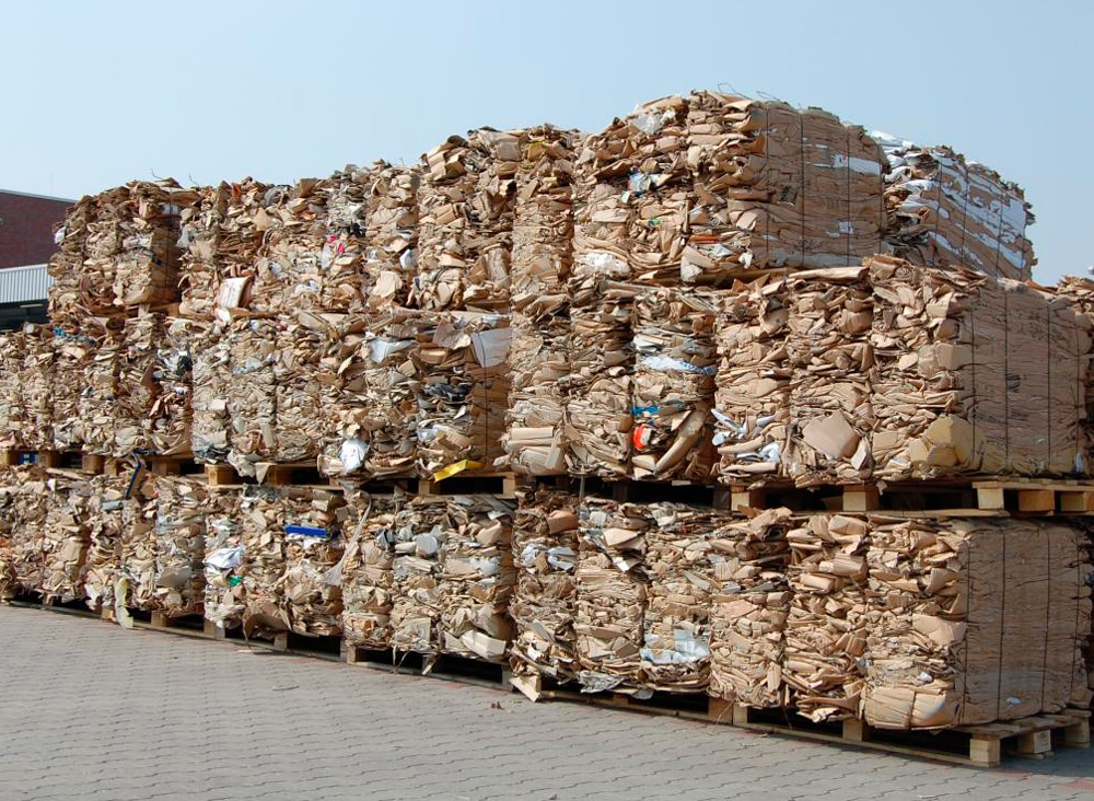 Cardboard bales for recycling in Toowoomba